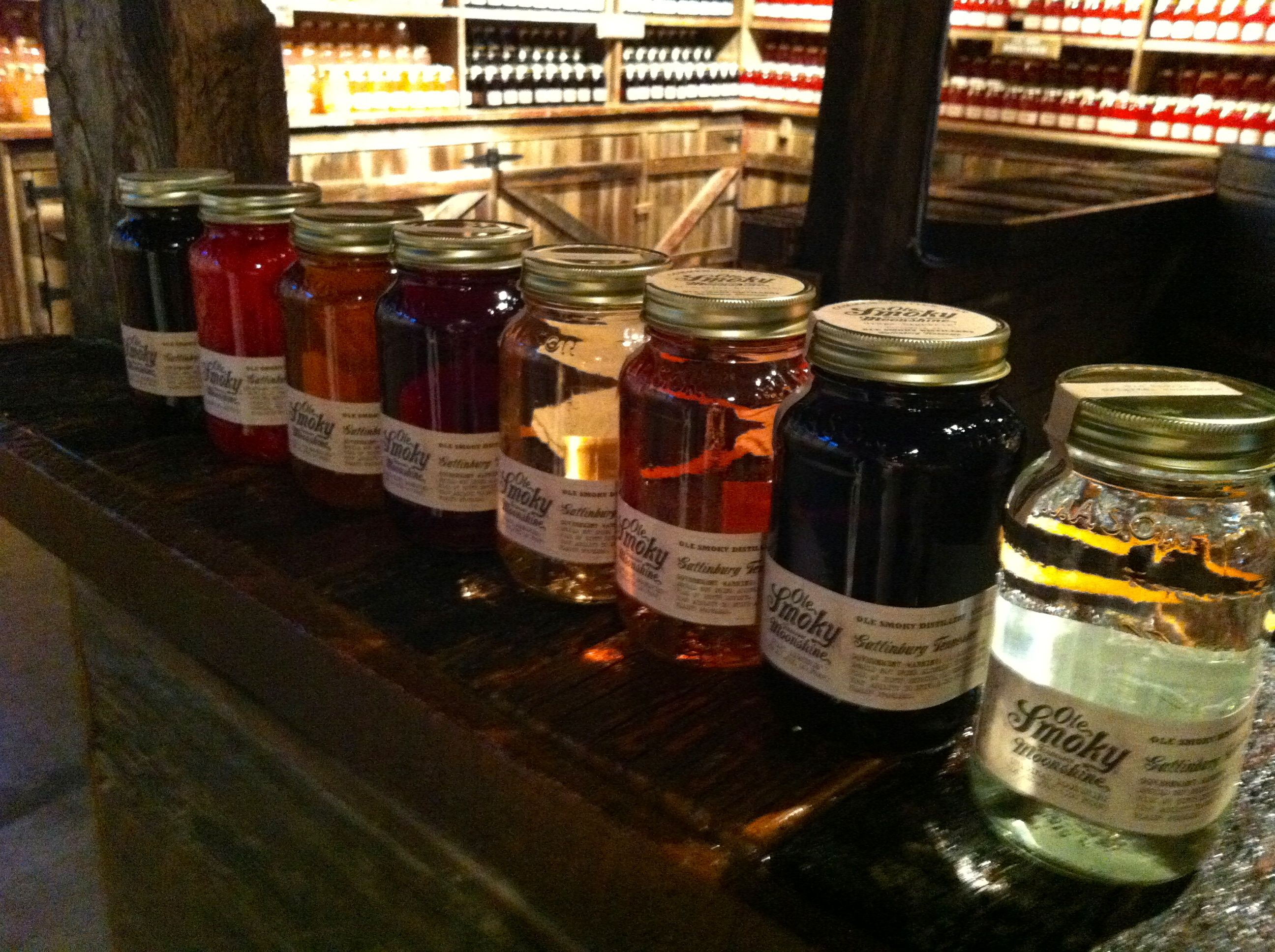 Ole Smoky Moonshine flavors include Peach, Blackberry, Apple Pie and more!