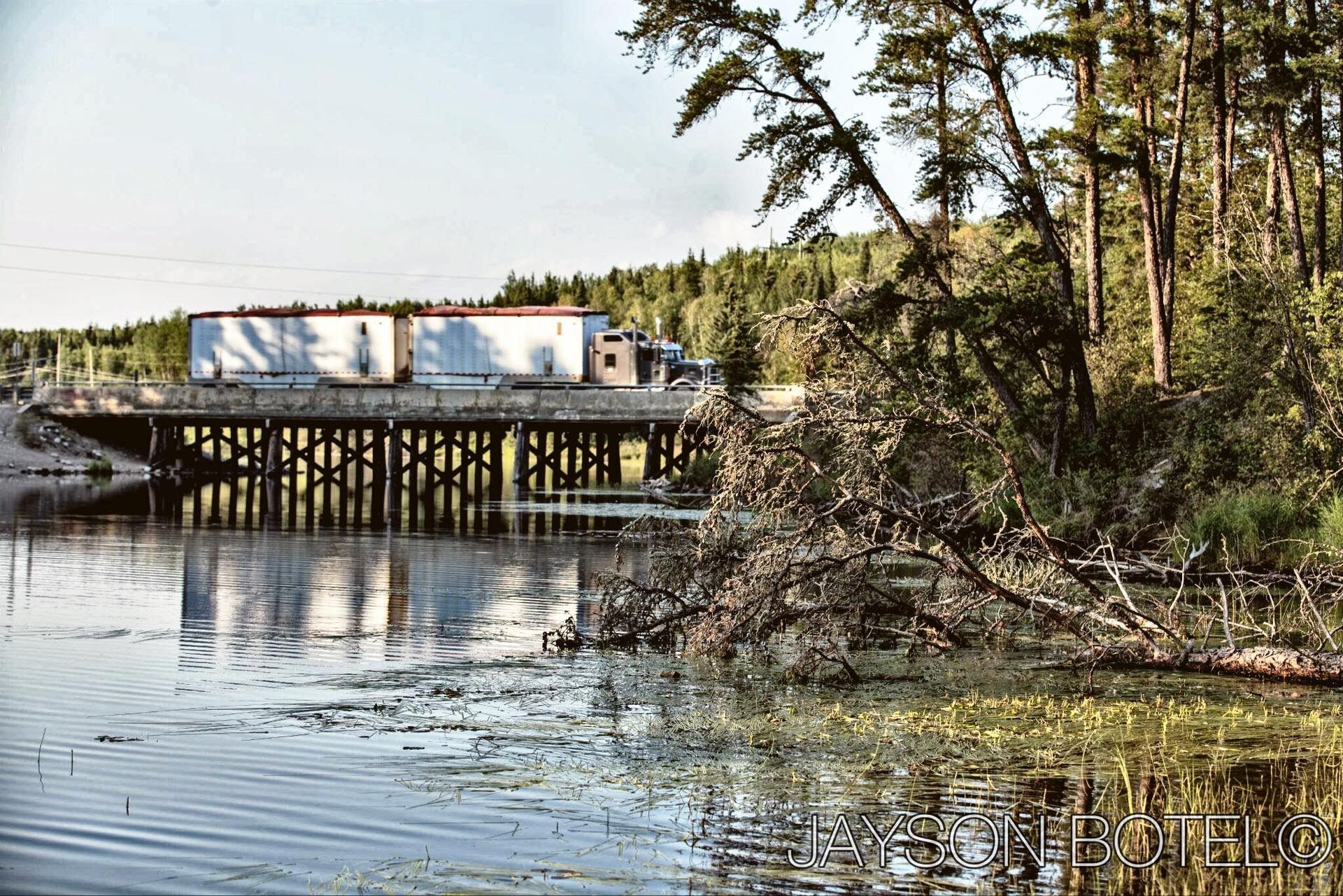 Chukuni river bridge red lake lake river
