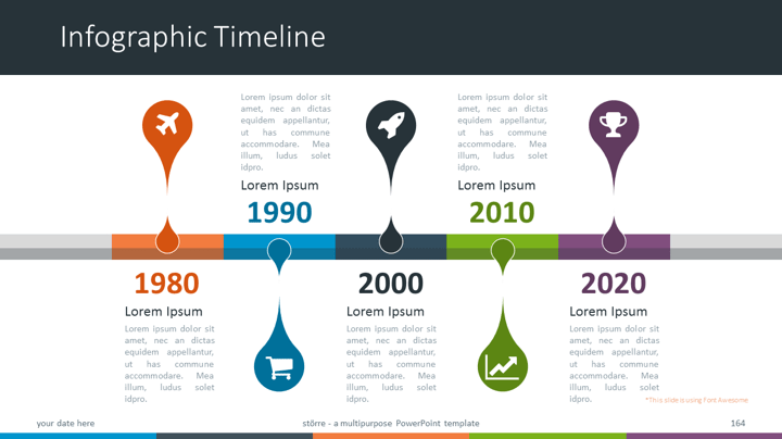 Större - Multipurpose PowerPoint Template - Infographic Timeline