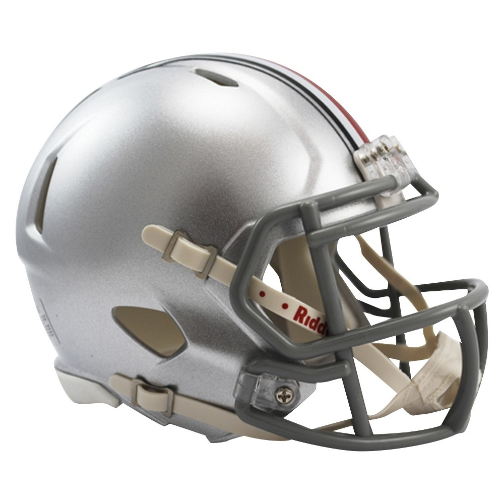 Ohio state buckeyes riddell speed mini helmet silver