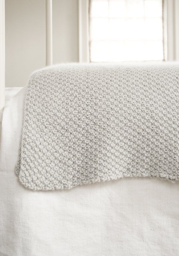 Double Seed Stitch Blanket | Purl Soho | Baby S | Pinterest