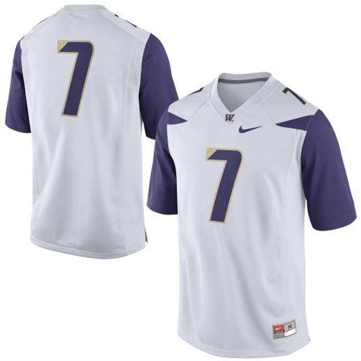 buy popular 61327 d8274 Nike Washington Huskies White Replica Football Jersey ...