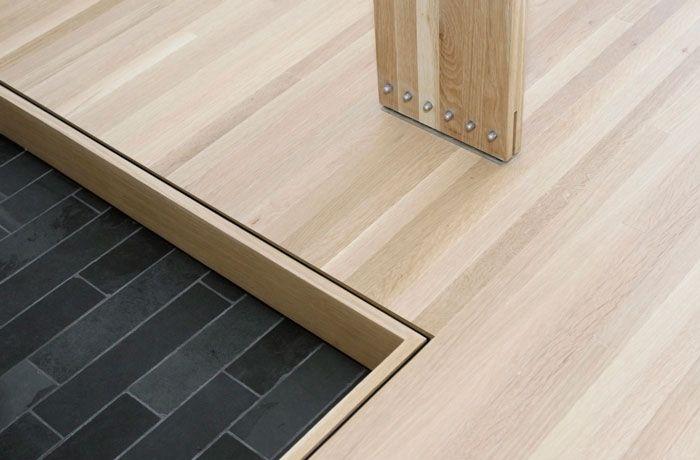 beautiful change of floor type detail