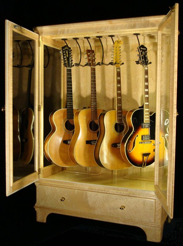 Guitar Humidity Control Guitar Display Case Guitar Display Music Room Decor