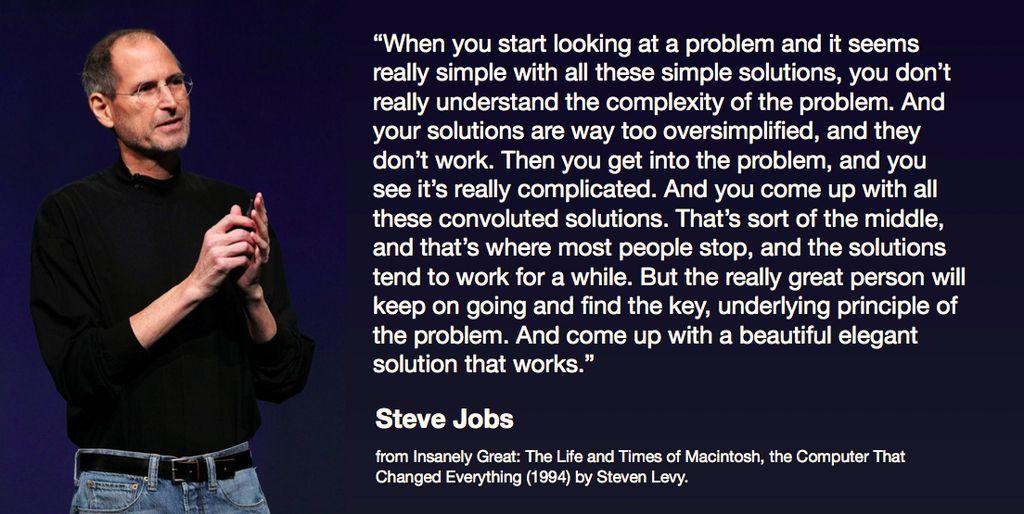 Steve Jobs simple ux quote