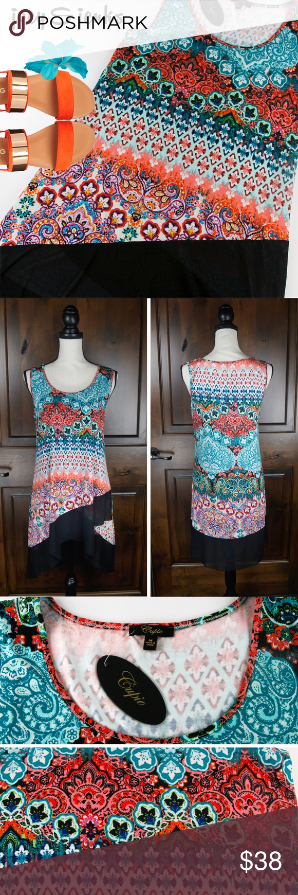Bogonwt cupio tunic top or dress medium a must have for your