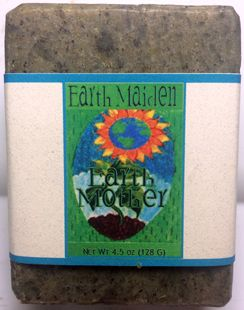 Earth Maiden's Earth Mother combines the smoky scent of vetiver with clary sage in this intensely earthy, fragrant soap.