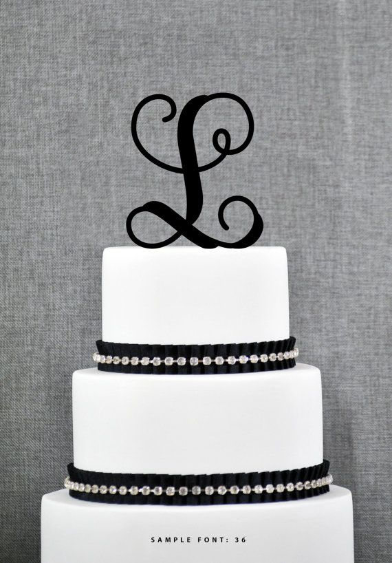 Personalized Monogram Initial Wedding Cake Toppers -Letter ...