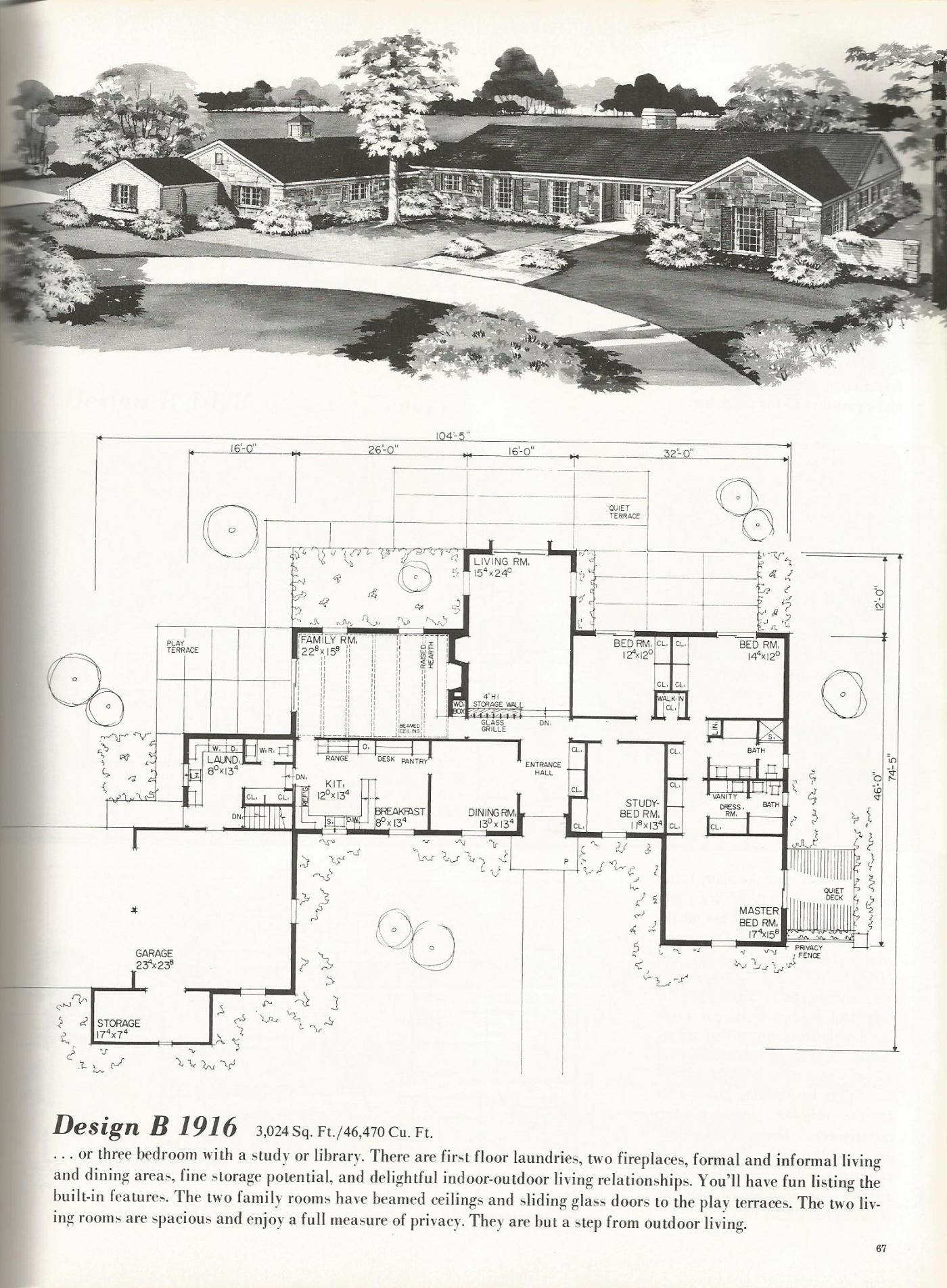 Vintage house plans mid century homes luxurious vintage home plans grundriss haus planer