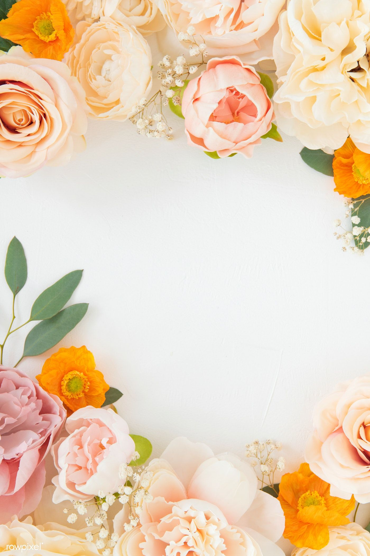 Download Premium Photo Of Pastel Flowers On White Background