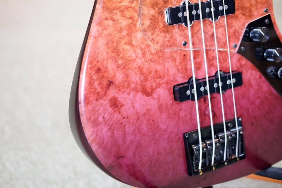 Bacchus guitars 限量生產 Exotic wood custom Sakura burl Special
