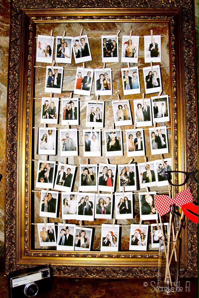 Macro marco para fotos de invitados en boda   ウェディング 小物 ...
