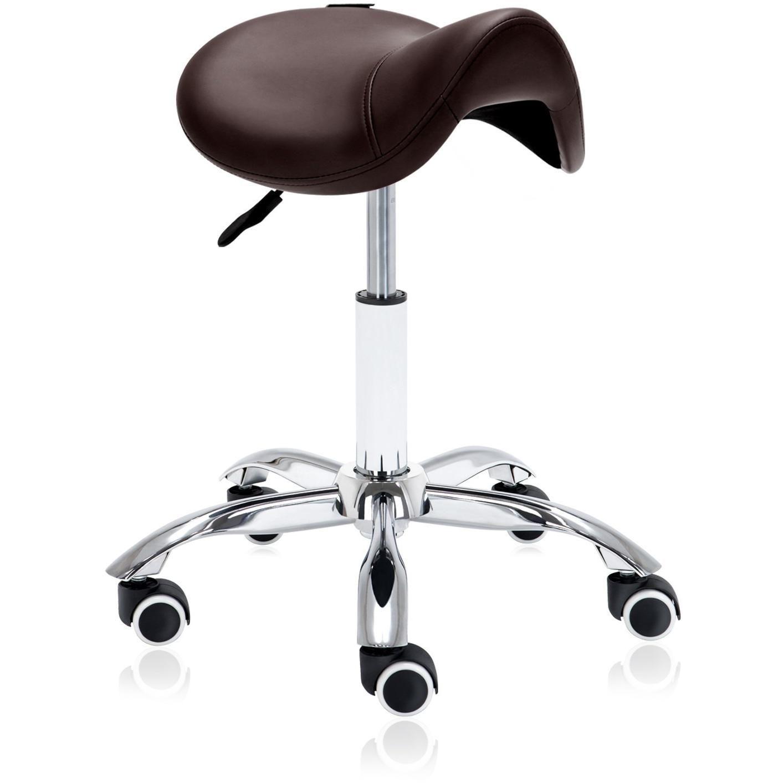 Hydraulic saddle rolling ergonomic medical stool