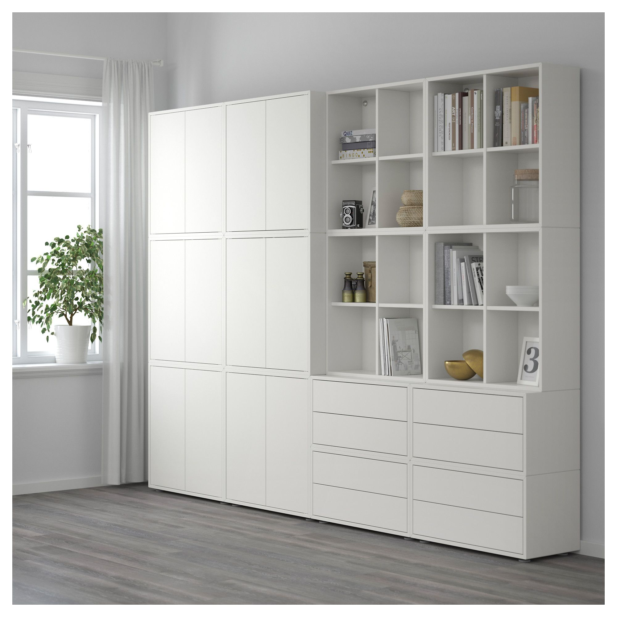 Furniture Home Furnishings Find Your Inspiration White Storage Cabinets Eket Ikea Home #white #living #room #storage #cabinets