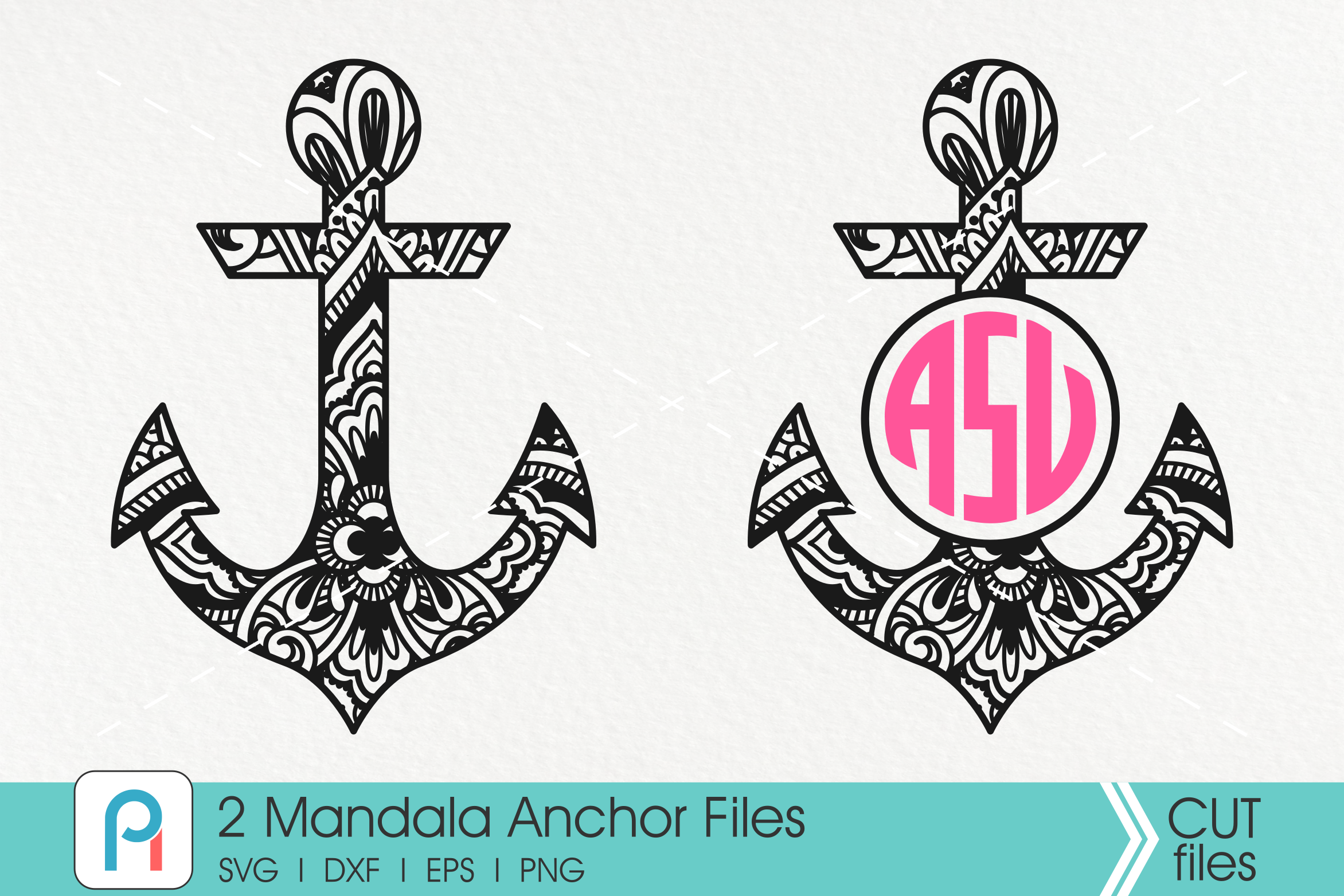 46+ Monogram Anchors, Svg, Dxf, Eps And Png Cut Files DXF