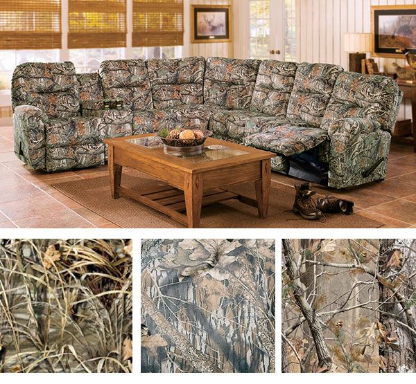 CamouflageFor the passionate outdoors family  this camo sectional will seat  . Realtree Camo Living Room Furniture. Home Design Ideas