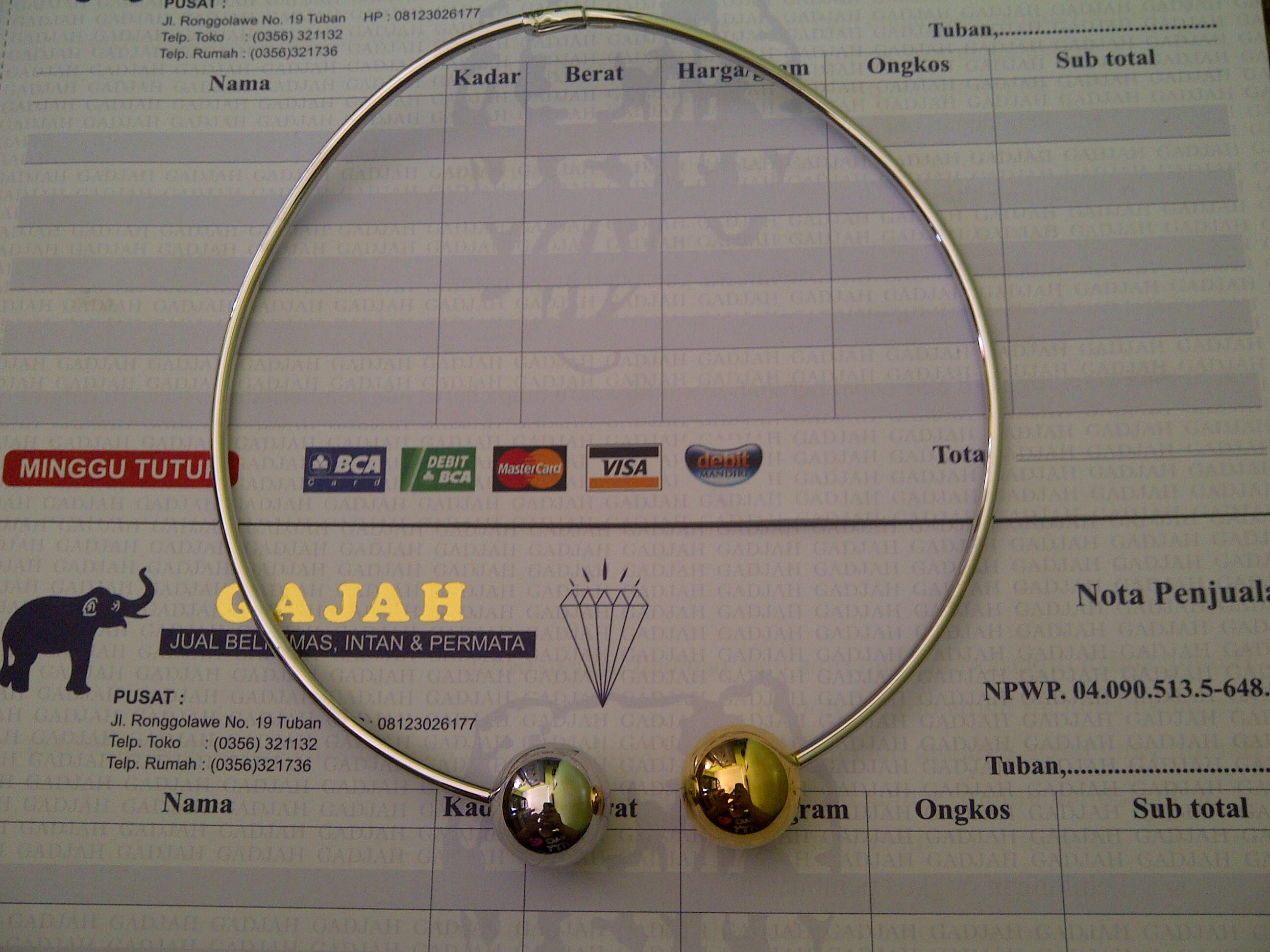 18k Yellow & White Gold Candy Dior Necklace