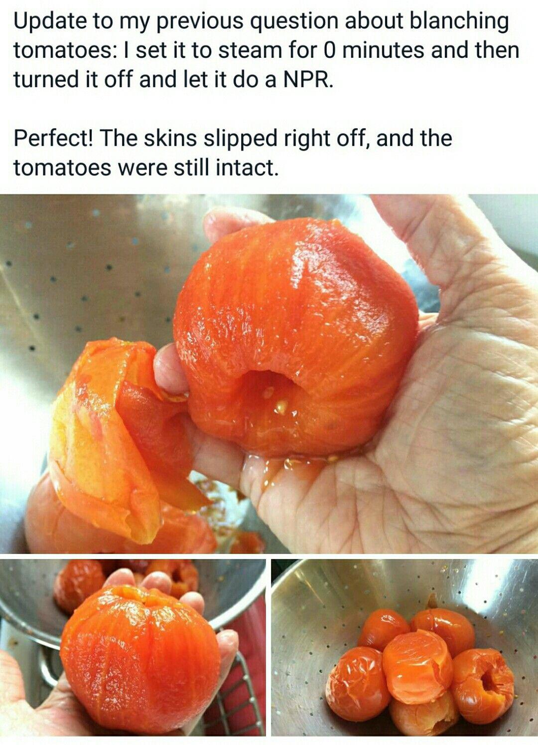 Instant Pot Blanching Tomatoes Instant Pot Recipes Pot Recipes