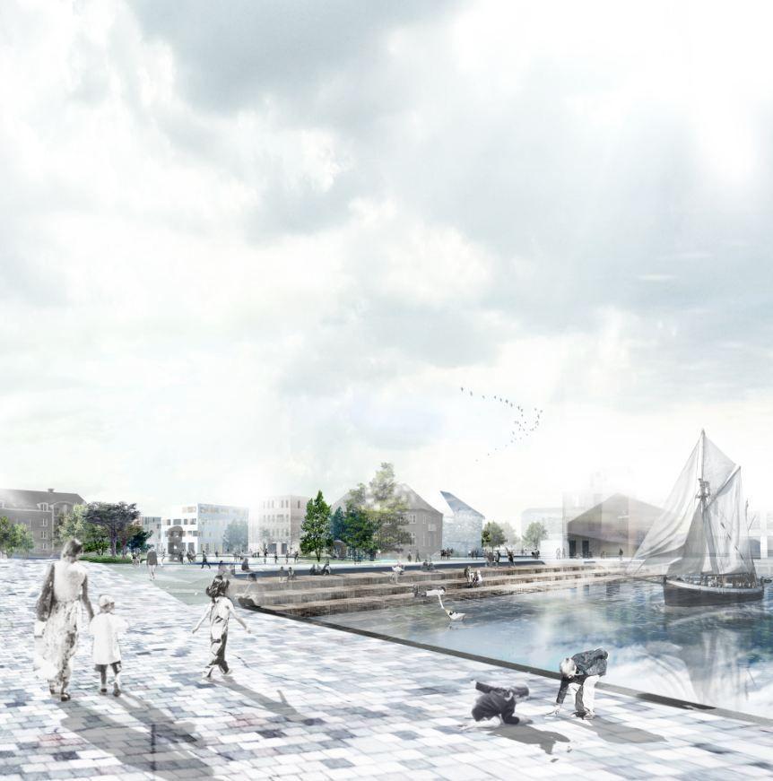 HOBRO – A City Finds its Lake Winning Proposal / Holscher Arkitekter