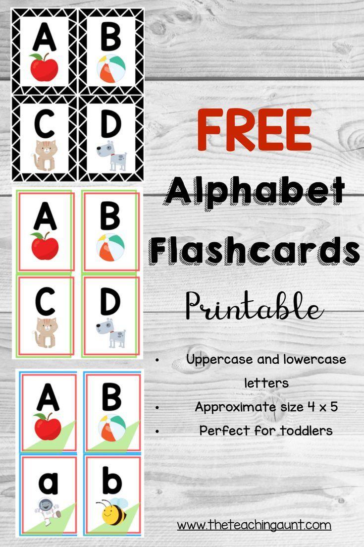Alphabet flashcards free printable education