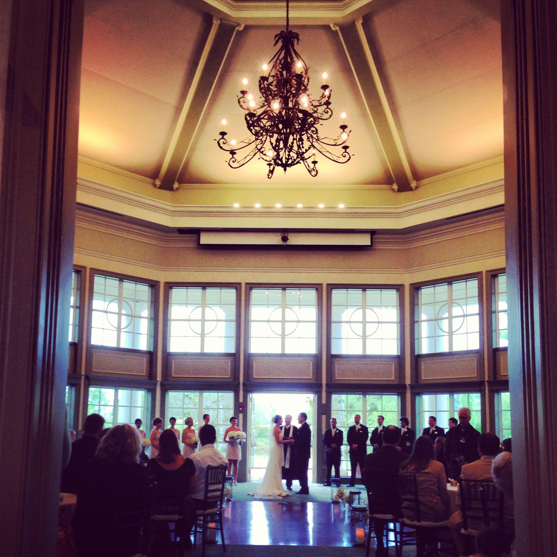 Wedding Ceremony / Wedding Planner: The Graceful Host / Venue: Daniel Stowe  Botanical Gardens