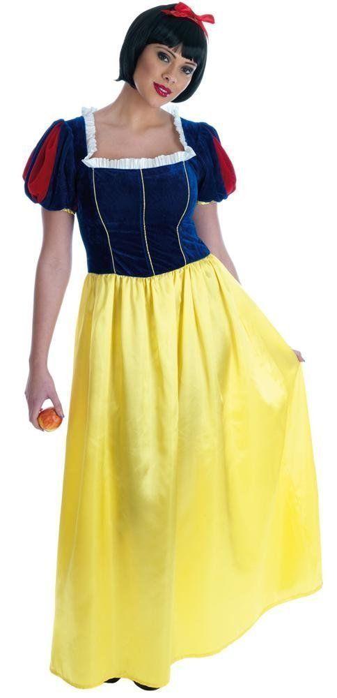 Deluxe Snow White Fairytale Womans Fancy Dress Costume Plus Size