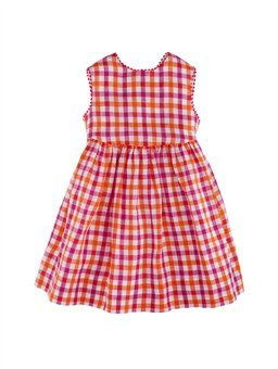 sorbet checked crossback dress for baby girls $195.00