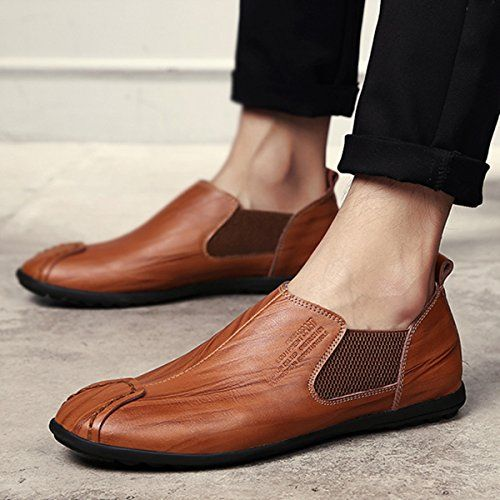 e2701b8ca875d Men's Casual Shoes, Gracosy British Style Premium Genuine Leather Classic  Oxfords Shoes, Fashion Driving Shoes – Resin Pattern, Handmake Dark Brown  43 EU