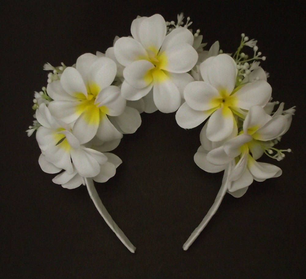 Etsy Shop White Plumeria Headband Hawaiian Flower Crown Special Price Until Feb 15 2018 Http Etsy Me 2n Hawaiian Flower Crown Plumeria Flowers Plumeria