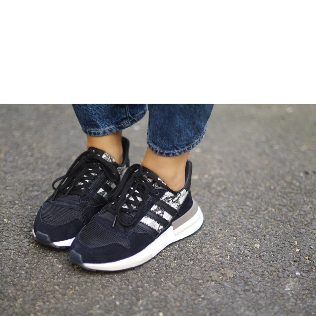 adidas originals zx 500 rm trainers in black