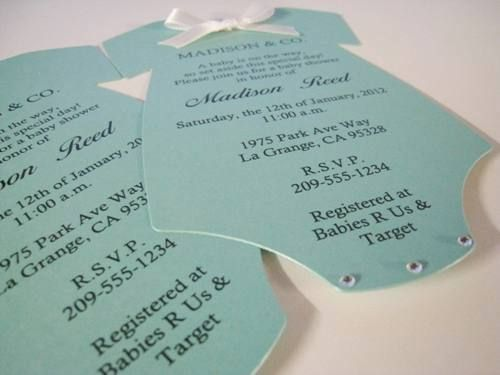 Tiffany Co Inspired Baby Shower Invitations Tiffany Blue Onesie