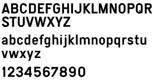 Traffic Sign Typefaces Switzerland Street Sign Font Typeface