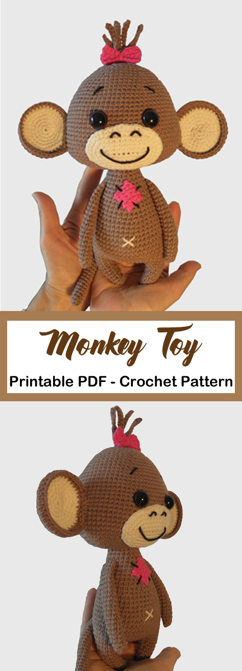 Make a Cute Monkey Toy #crochettoysanddolls