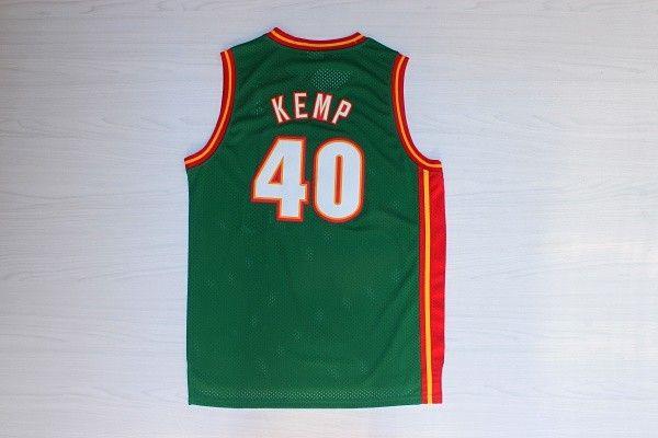 20 Gary Payton  40 Shawn Kemp Stitched Green Sonics Jersey 943f0a00f
