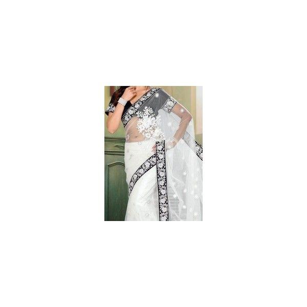 White Wedding Dress Mumbai: Bridal Fashion Week White Wedding Saree Via Polyvore