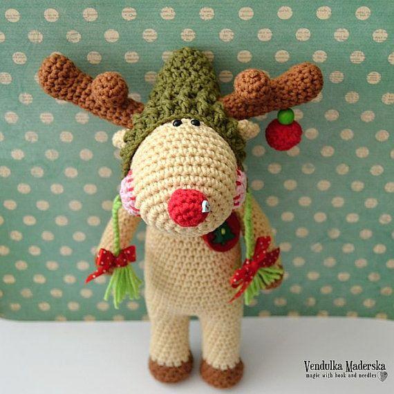 Amigurumis Navidad Crochet : Crochet pattern christmas reindeer by vendulkam amigurumi