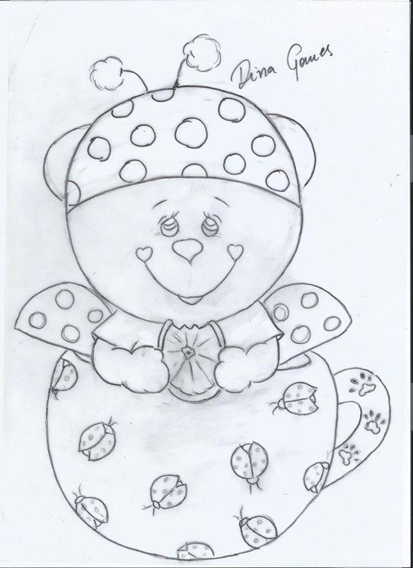 pintura em tecido   yadys gaibor   Pinterest   Embroidery, Ladybug ...