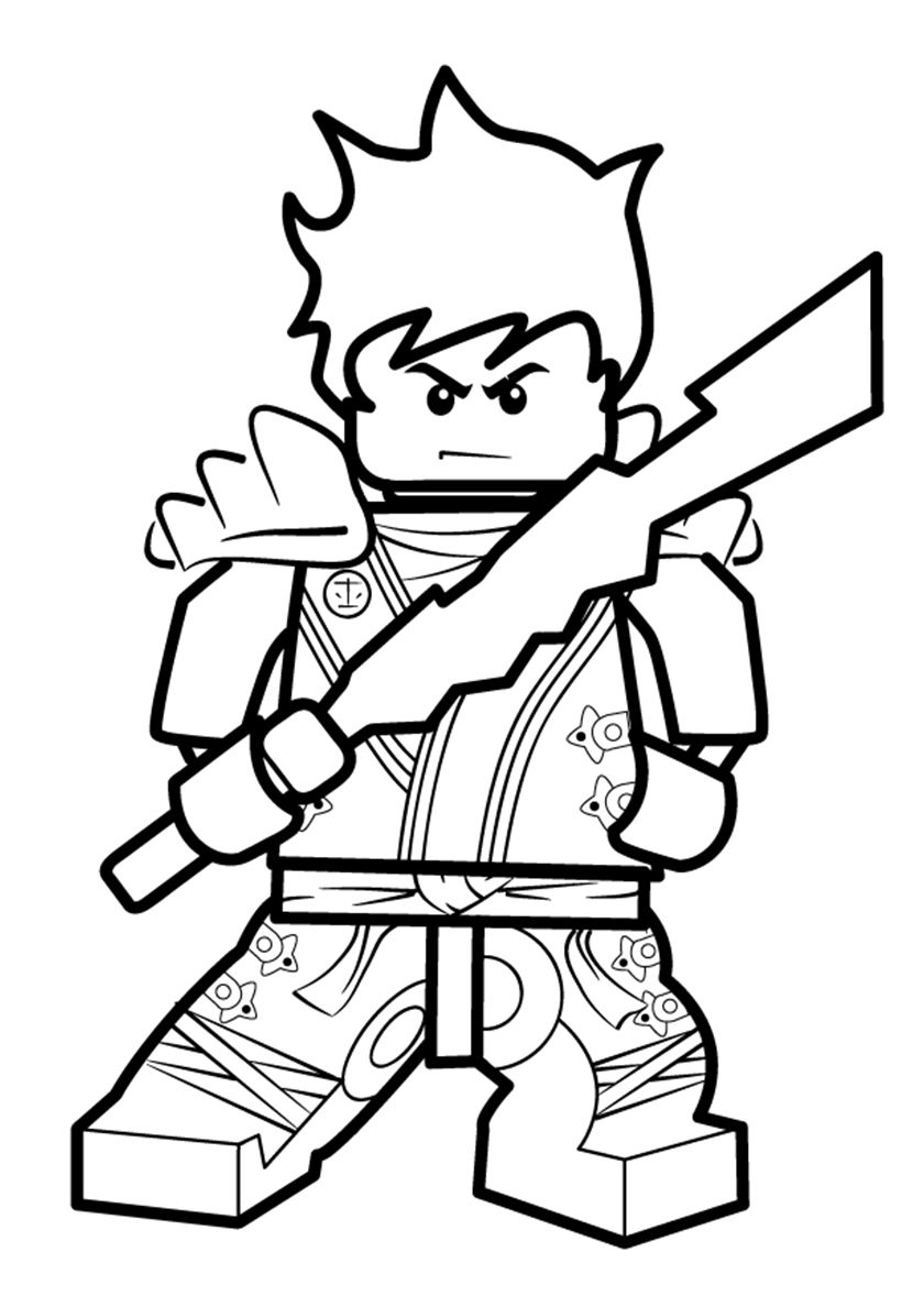 Ninja and Elemental Blade | Ninjago coloring pages, Lego ...