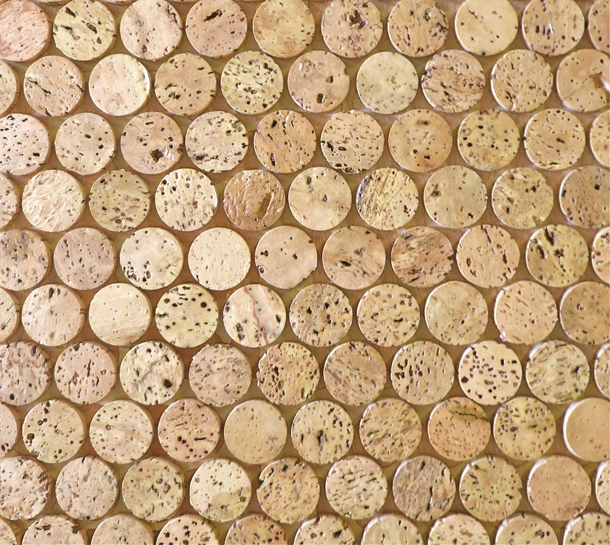 Kitchen Tiles Cork corkdotz - brown mosaic tile | cork stoppers, installation