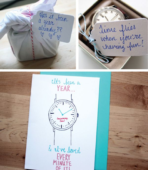 Diy Wedding Anniversary Gifts: Time Themed 1 Year Anniversary Gift Idea