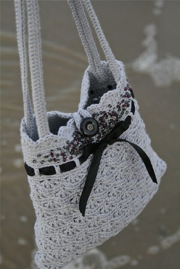 Top 10 Gorgeous Crochet Patterns For Handbags Love It Pinterest