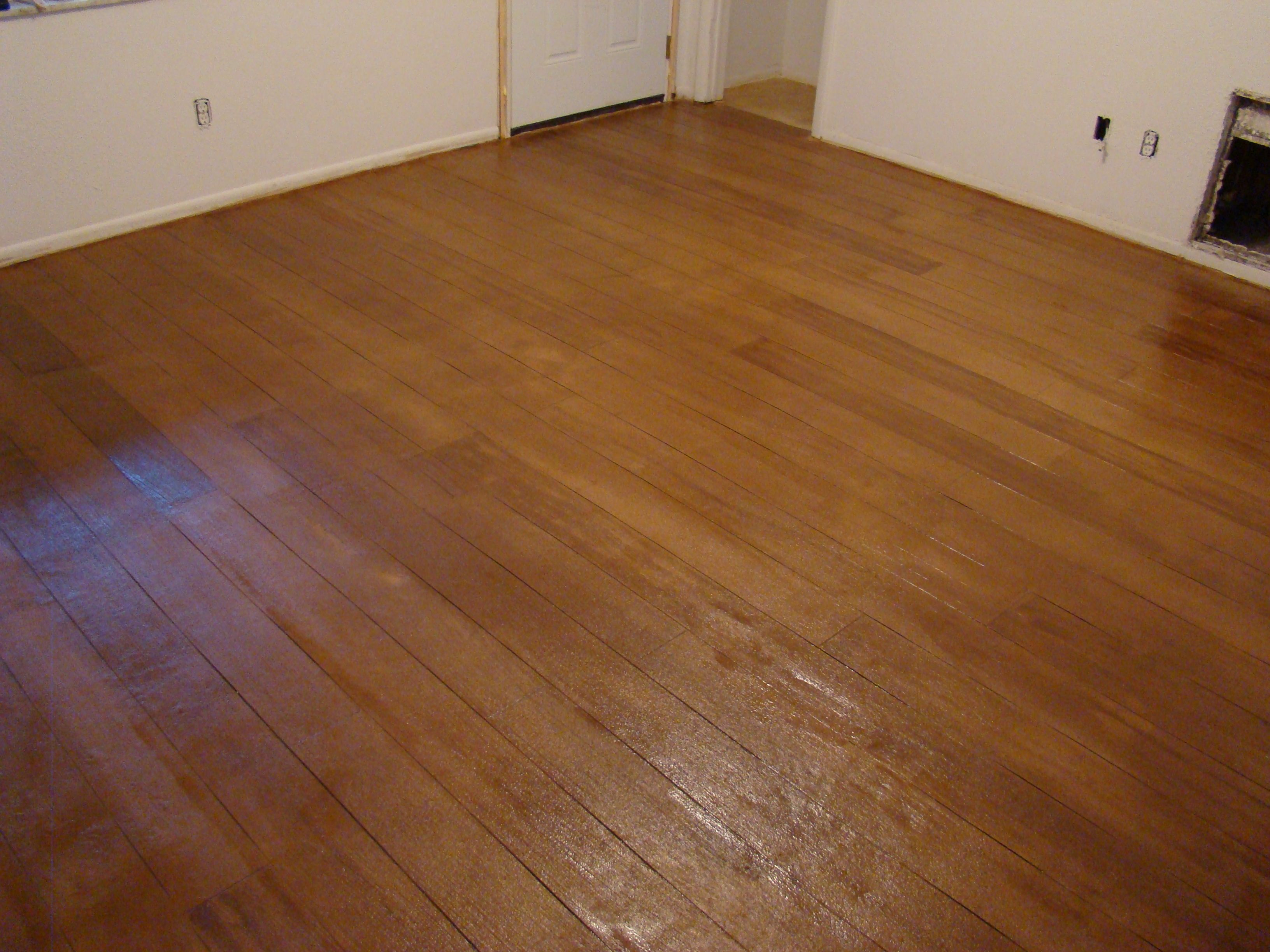 Concrete stain we can recreate nearly any wood finish for Stained polished concrete floor