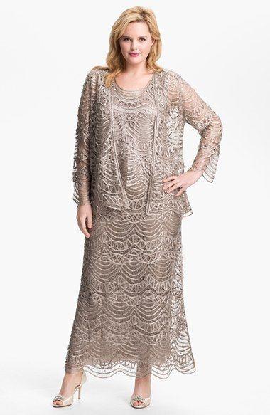 plus size dress three quarter sleeve 20s | best dress ideas