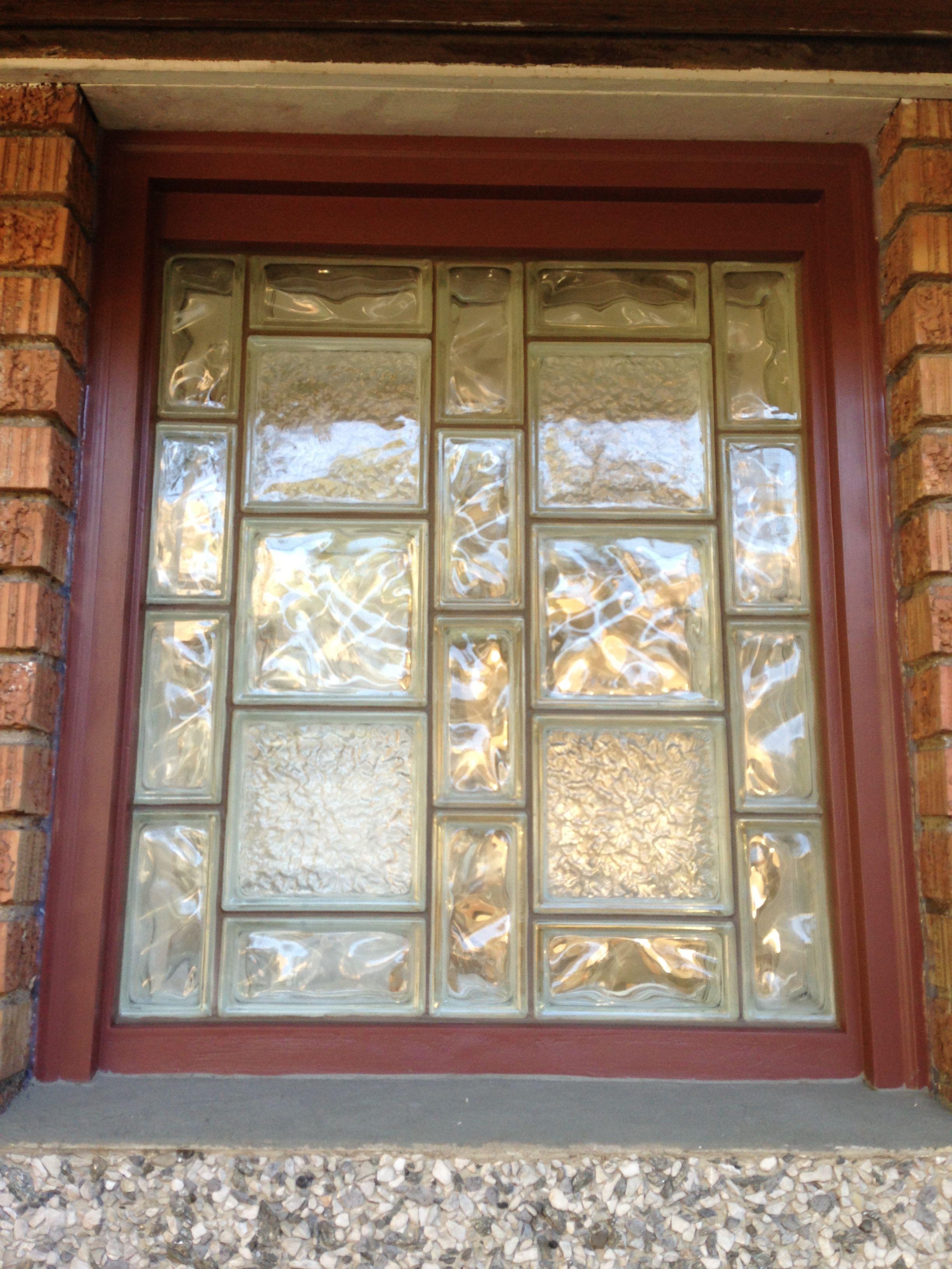 Glass window diy glass block window for Acrylic block window