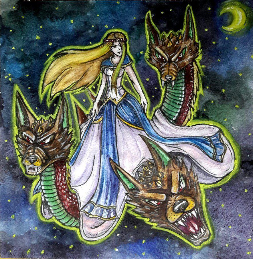 11smite god scylla by daniellelairiele on deviantart