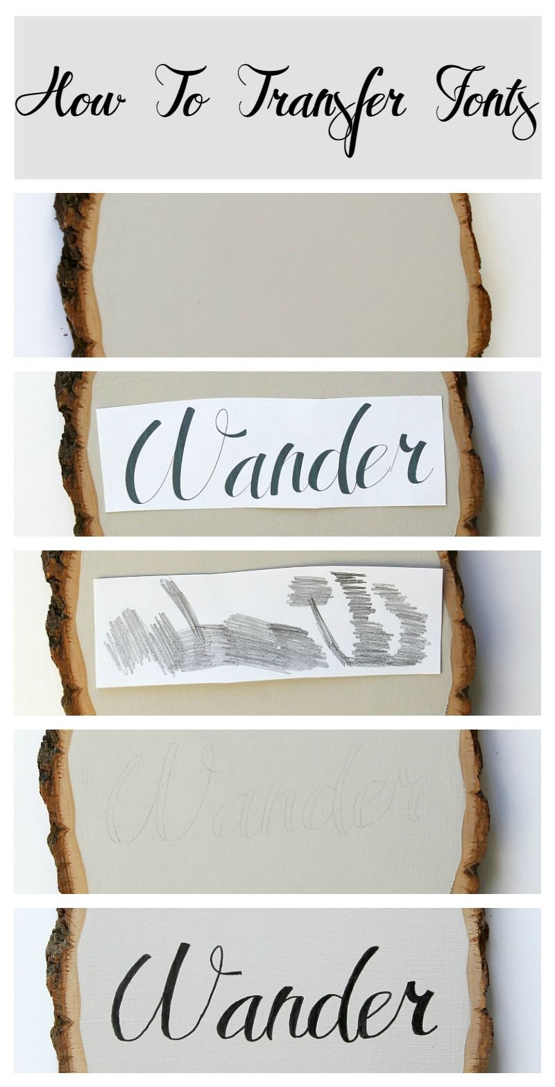 Easy Font Transfer Method for DIY Signs Diy signs, Sign