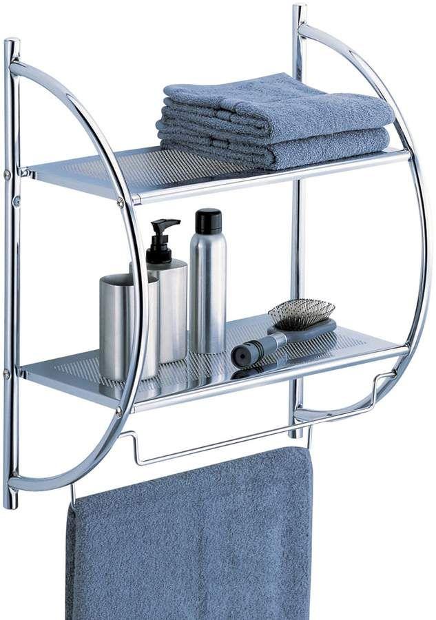 Neu Home 2 Tier Shelf Chrome Bathroom Shelves Towel Rack Bathroom Bathroom Shelves