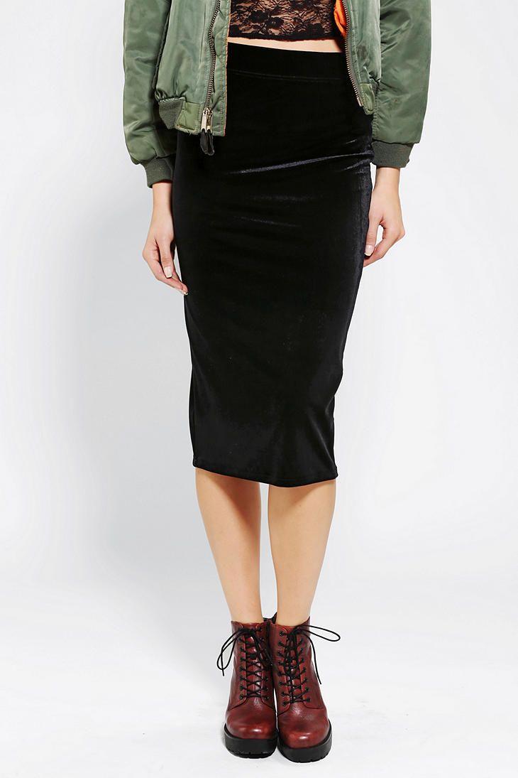 ecote velvet midi skirt - urban outfitters | • gypsy | | girl