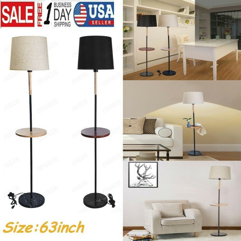 Led Floor Lamp Shelf Adjustable Wood Standing Light Reading Bedroom Office Home Bedroom Lamps Ideas Of Led Floor Lamp Floor Lamp Bedroom Bedroom Lamp Sets