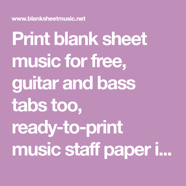 free print staff paper